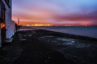Dublin port and city