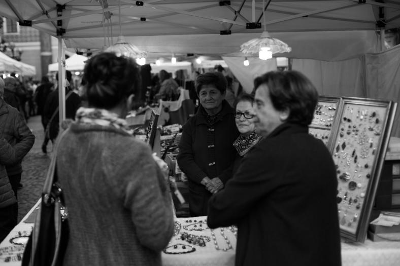 Flea market in Piazza Mazzini