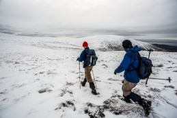 Treacherous passage: in some places snow becomes suddenly very deep... Watch where you step!