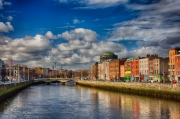 Blue skies in Dublin
