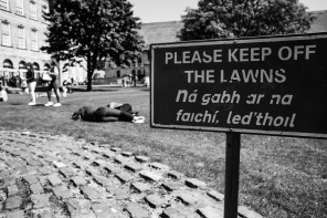 Keep off the lawns!!!