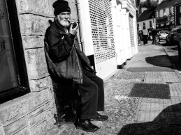 Old man and pipe