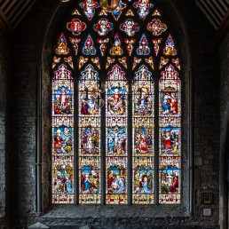 The rosary mysteries - Dominican Black Abbey: I'm told this is the only such window in the world (I haven't checked, though)