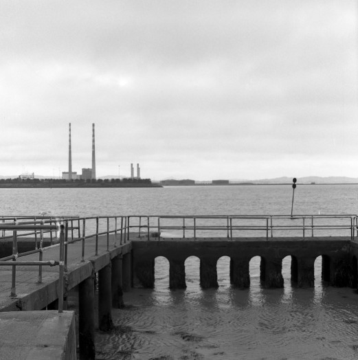 Poolbeg chimneys from Clontarf. Zenza Bronica SQ-A