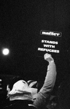 Stand with refugees Canon FTb - Ilford Delta 3200 (pushed 6400)